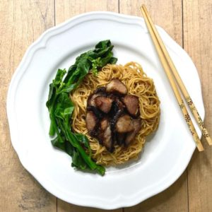 char siew noodle